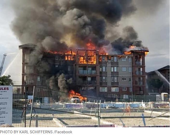 Langley Condo Fire July, 2020